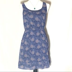 LC Lauren Conrad Blue and Tan Tank Dress Size 6